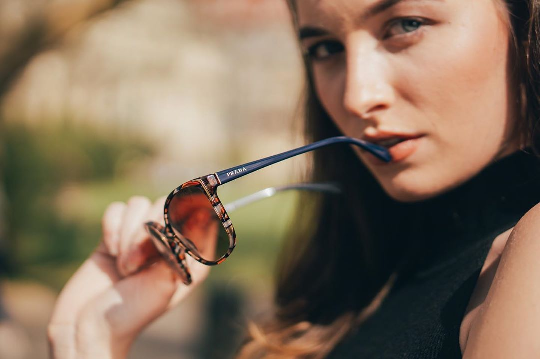 Prada sunglasses feature prestigious designs that blend unmistakable style and refined elegance. Find your favourite pair on #lentiamo. #prada #eyewear #czechgirl