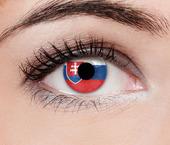 ColourVUE Flag (2 čočky) - nedioptrické / Slovensko