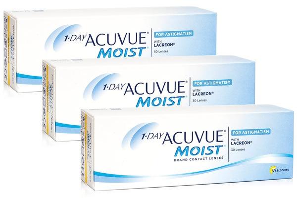 1 Day Acuvue Moist pentru Astigmatism (90 lentile)