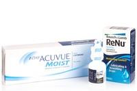 1-DAY Acuvue Moist (30 čoček) + ReNu MultiPlus Drops 8 ml