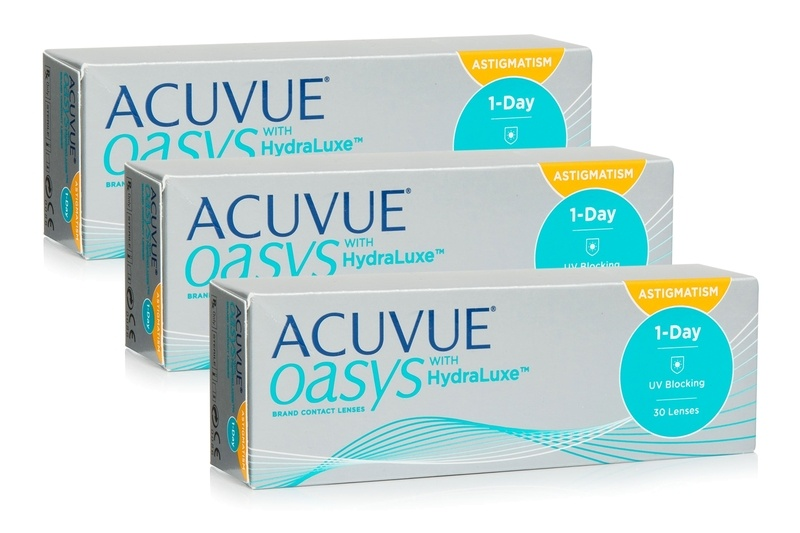 Image of   Acuvue Oasys 1-Day with HydraLuxe for Astigmatism (90 linser)