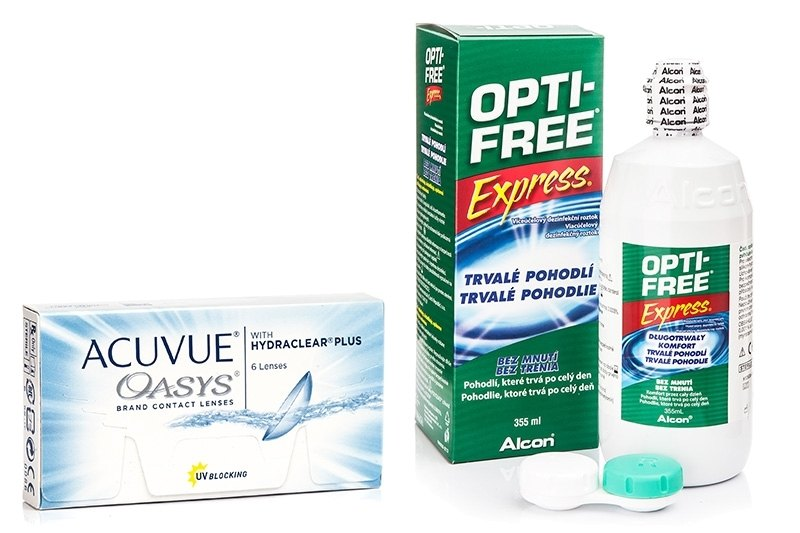 Image of   Acuvue Oasys (6 linser) + OPTI-FREE Express 355 ml med etui