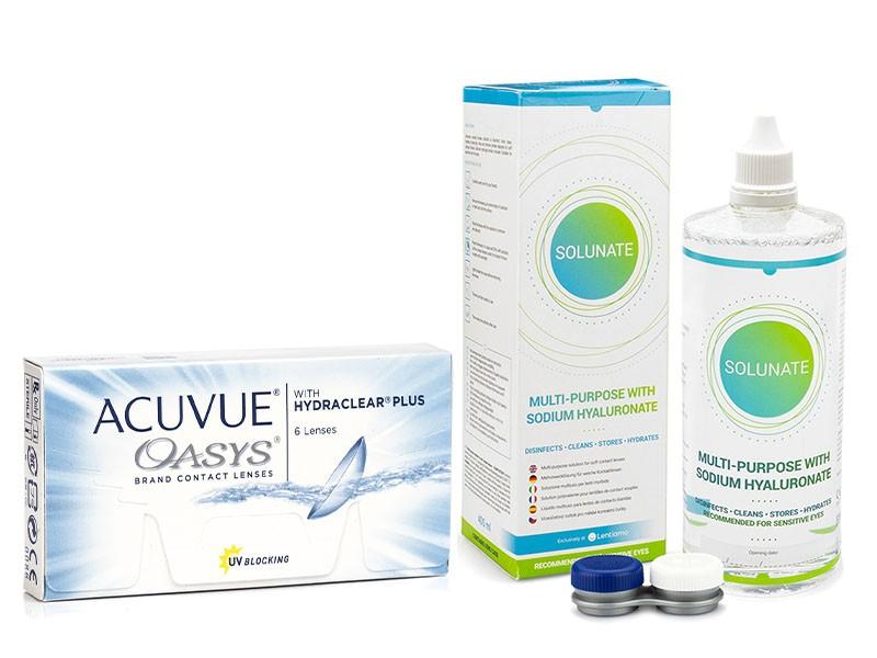 Image of   Acuvue Oasys (6 linser) + Solunate Multi-Purpose 400 ml med etui