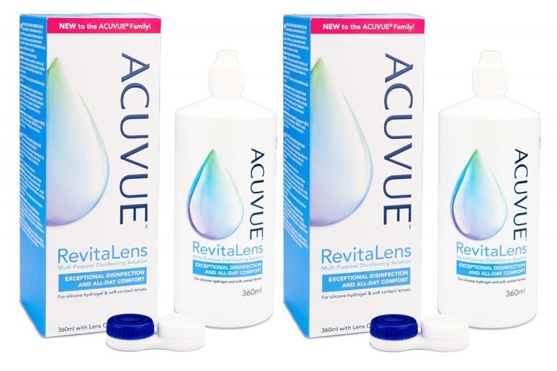 Acuvue RevitaLens 2 x 360 ml s pouzdry Ostatní roztoky