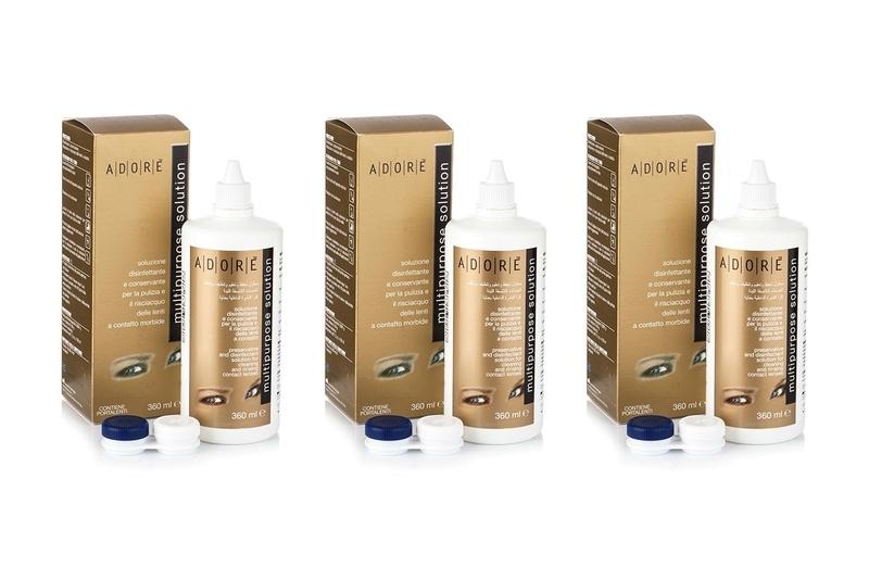 Adore Multipurpose 3 x 360 ml cu suporturi de la Eyemed Technologies