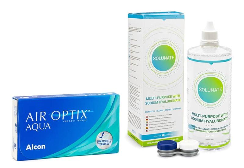 67038d7066283 Producto disponible también en este formato  Air Optix Aqua (6 lentillas) +  Solunate Multi-Purpose ...
