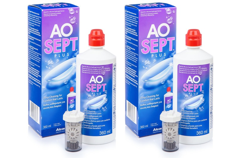 AOSEPT PLUS 2 x 360 ml cu suporturi de la Alcon