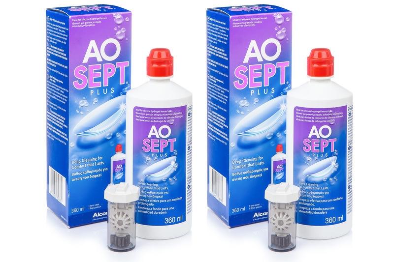 Image of   AOSEPT PLUS 2 x 360 ml med etuier