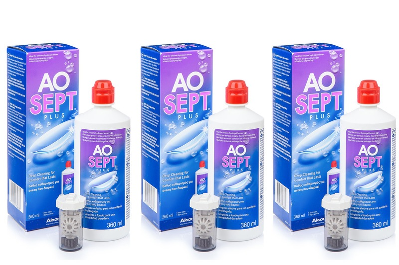 AOSEPT PLUS 3 x 360 ml cu suporturi de la Alcon