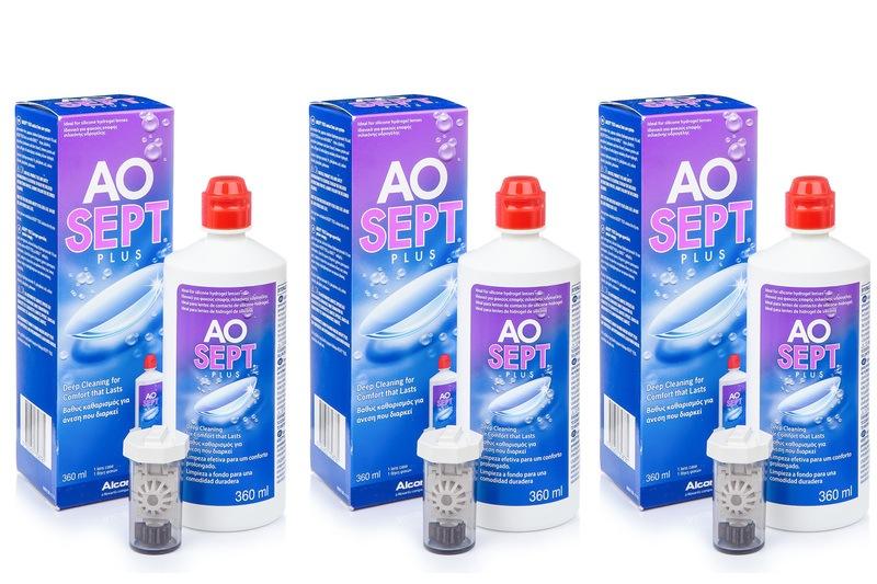 Billede af AOSEPT PLUS 3 x 360 ml med etuier