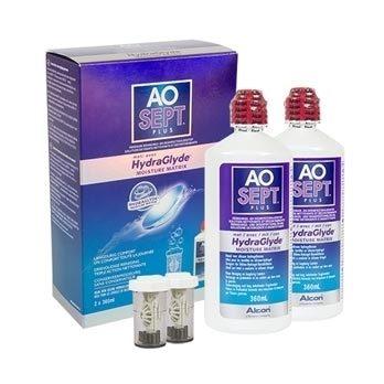 Aosept Plus s Hydraglyde 2 x 360 ml s pouzdry Aosept