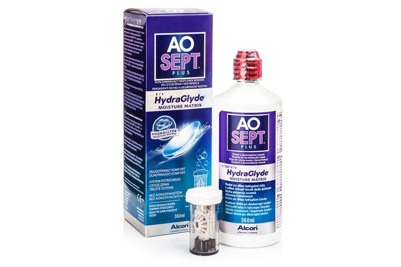 Aosept Plus s Hydraglyde 360 ml s pouzdrem Aosept