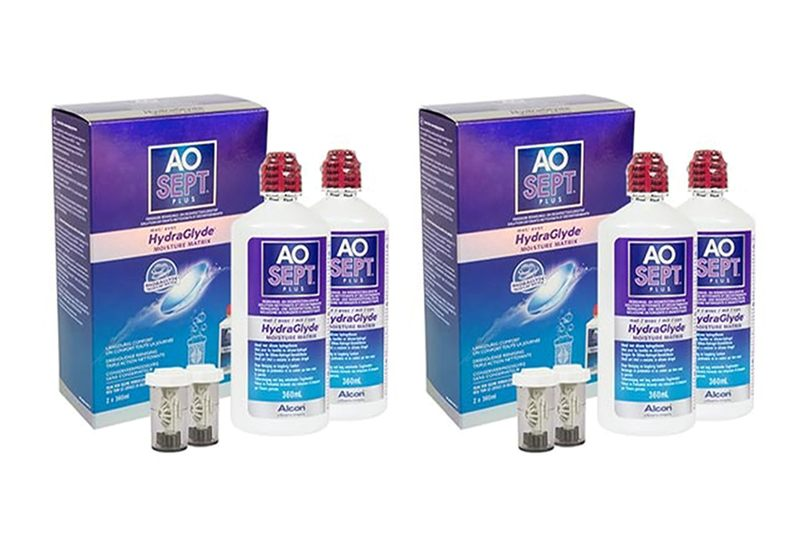 Aosept Plus s Hydraglyde 4 x 360 ml s pouzdry Aosept