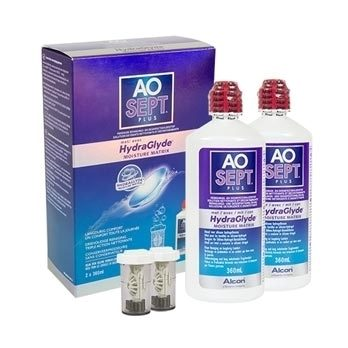AOSEPT PLUS with Hydraglyde 2 x 360 ml cu suporturi de la Alcon