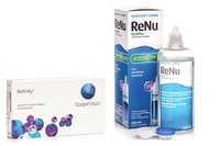 Biofinity (6 lentile) + ReNu MultiPlus 360 ml cu suport