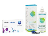 Biofinity Energys CooperVision (6 lentile) + Solunate Multi-Purpose 400 ml cu suport