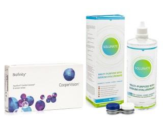 Biofinity 6 lenses + Solunate Multi-Purpose 400 ml