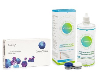 Biofinity 6 lentillas + Solunate Multi-Purpose 400 ml