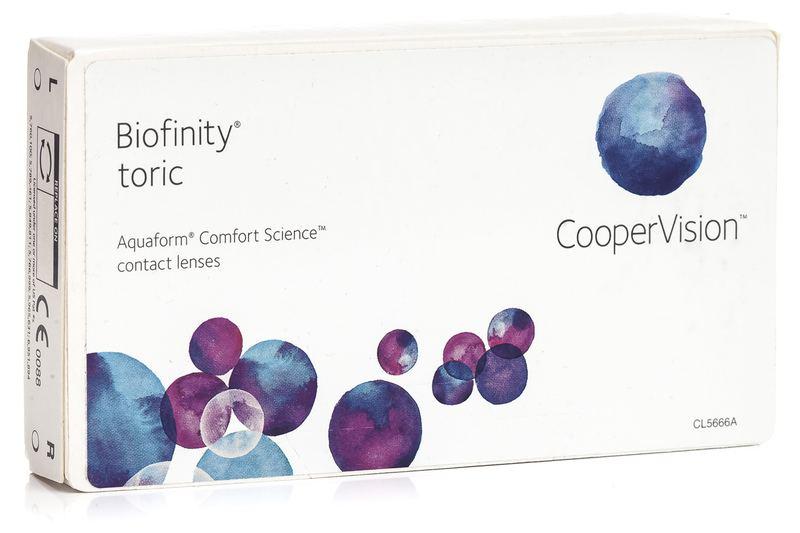 Biofinity Toric (3 čočky) Biofinity Kontinuální čočky torické silikon-hydrogelové