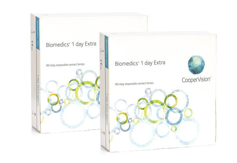 Biomedics 1 Day Extra CooperVision (180 šošoviek) Biomedics Jednodenné sférické Športové