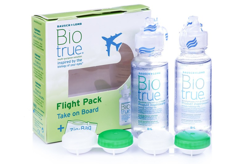 Image of   Biotrue Multi-Purpose 2 x 60 ml med etuier flight pack