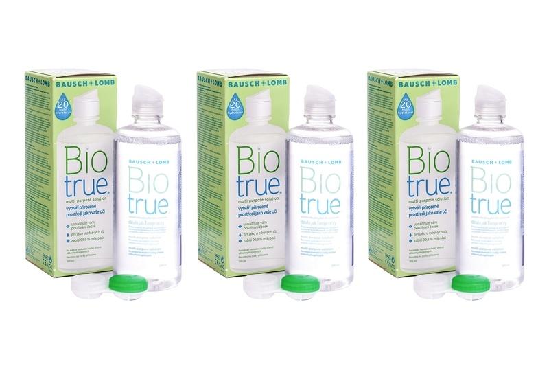 430e9e4c4 Biotrue Multi-Purpose 3 × 300 ml s puzdrami. Roztoky na kontaktné šošovky  ...