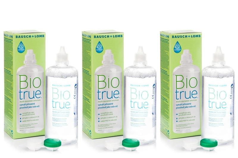 Biotrue Multi-Purpose 3 x 360 ml s pouzdry Biotrue