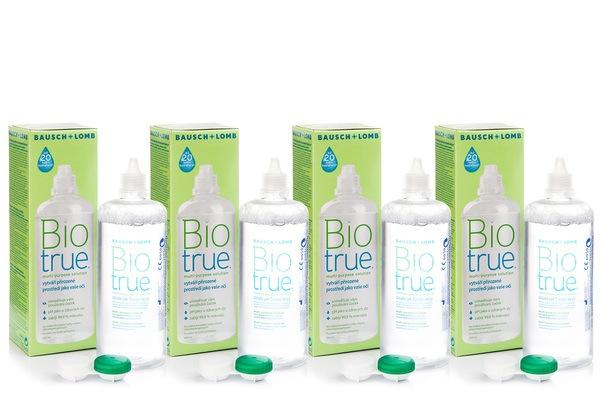 Biotrue Multi-Purpose 4 x 360 ml cu suporturi