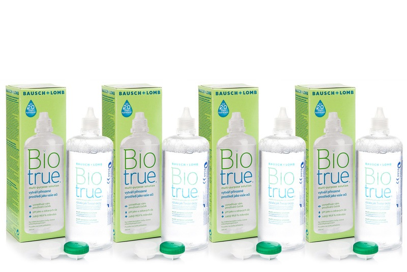Biotrue Multi-Purpose 4 x 360 ml s pouzdry Biotrue