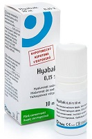Hyabak 0.15% gtt. 10ml eye drops
