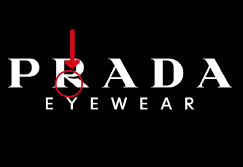 Gefälschte Prada Sonnenbrillen erkennen - überorüfen Sie das Logo