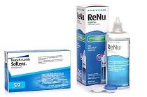 SofLens 59 (6 lentile) + ReNu MultiPlus 360 ml cu suport, pachet avantaj cu discount