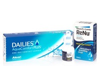 DAILIES AquaComfort Plus (30 čoček) + ReNu MultiPlus Drops 8 ml