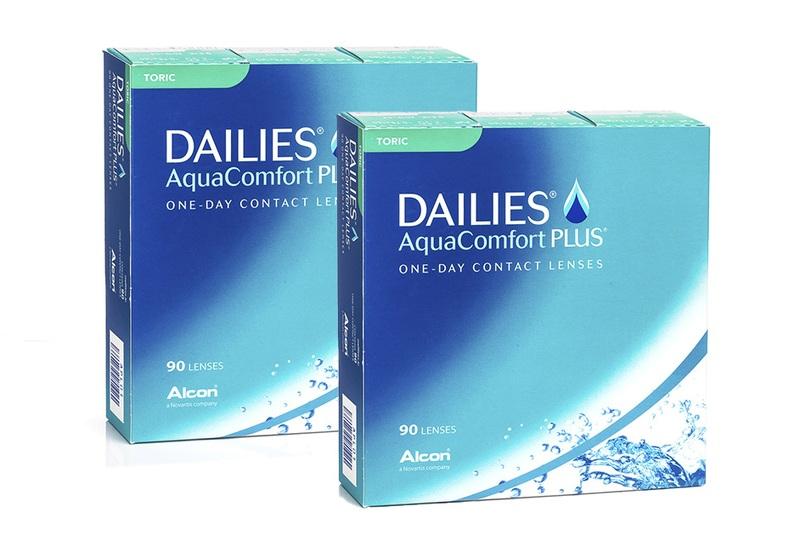 Dailies AquaComfort Plus Toric (180 čoček) Dailies Jednodenní čočky torické pro sport