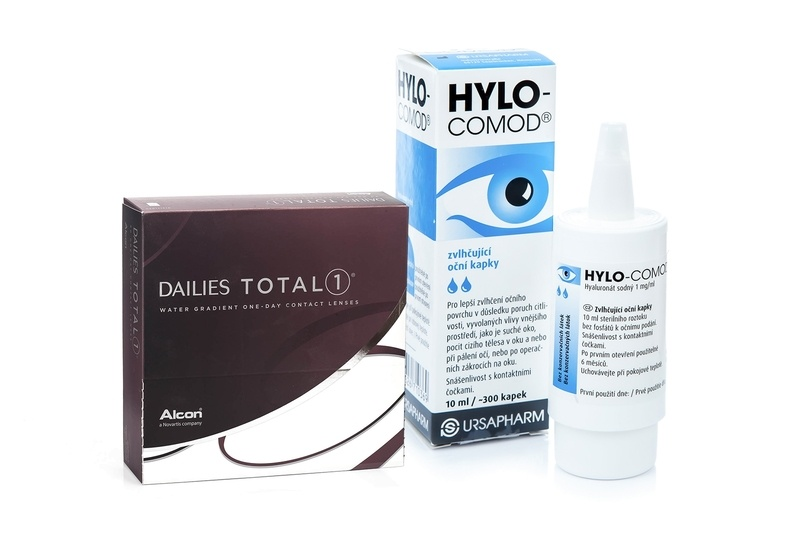 Billede af Dailies Total 1 (90 linser) + HYLO-COMOD 10 ml