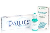 Focus DAILIES All Day Comfort (30 čoček) + Refresh 15 ml