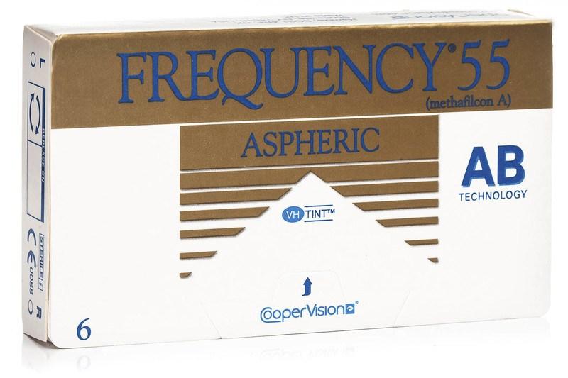 Frequency 55 Aspheric (6 čoček) Frequency Měsíční čočky sférické