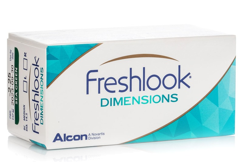 Nedioptrické FreshLook Dimensions (2 ks) farebné kontaktné šošovky 3981be449ad