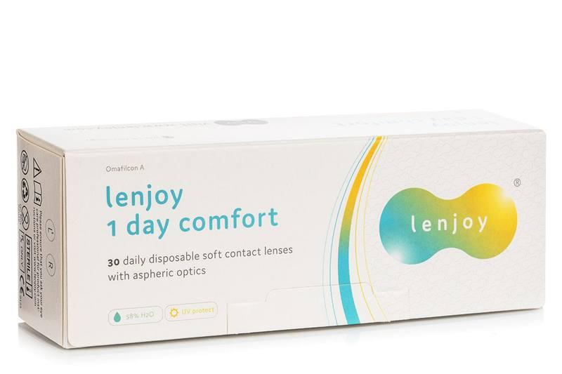 Lenjoy 1 Day Comfort (30 čoček) Lenjoy kontaktní čočky Jednodenní čočky sférické pro sport