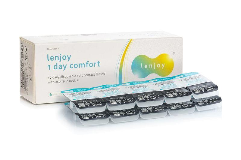 Lenjoy 1 Day Comfort (30 čoček) + 10 ks čoček zdarma Lenjoy kontaktní čočky Jednodenní čočky pro spo
