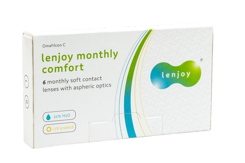 Lenjoy Monthly Comfort (6 čoček) Lenjoy kontaktní čočky Měsíční čočky