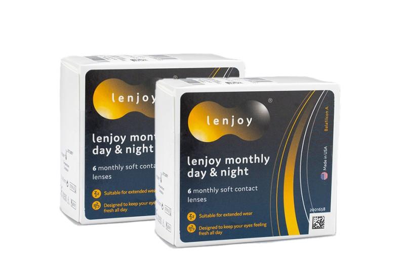 Lenjoy Monthly Day & Night (12 čoček) Lenjoy kontaktní čočky Kontinuální čočky silikon-hydrogelo