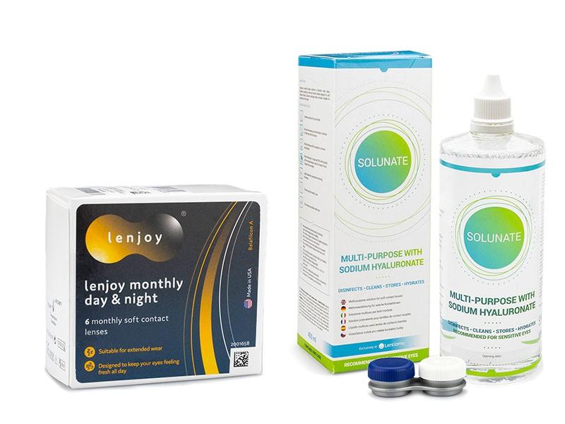 Lenjoy Monthly Day & Night + Solunate Multi-Purpose 400 ml