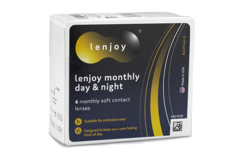 Lenjoy Monthly Day & Night (6 čoček) Lenjoy kontaktní čočky Kontinuální čočky silikon-hydrogelov