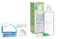 Magic Eye (2 лещи) – без диоптър + Biotrue Multi-Purpose 360 ml с кутия