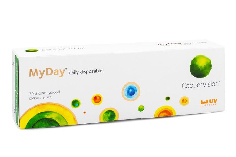 MyDay daily disposable (30 čoček) Ostatní kontaktní čočky Jednodenní čočky silikon-hydrogelové sféri