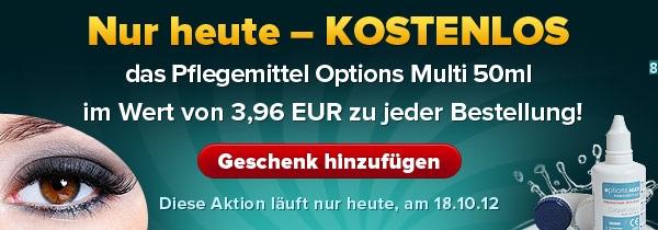 Pflegemittel Options Multi 50 ml KOSTENLOS zu jeder Bestellung. Nur heute, am 18. Oktober!