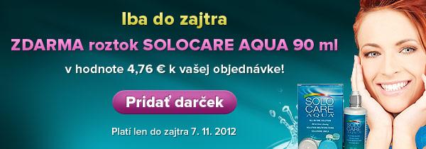 Iba do zajtra - ZDARMA roztok SOLOCARE AQUA 90 ml v hodnote 4,76 €!
