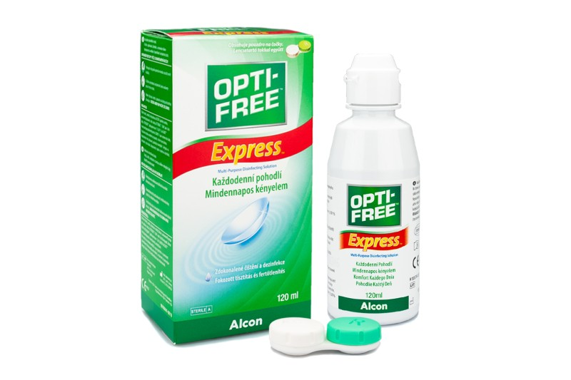 1af048f68 OPTI-FREE Express 120 ml s puzdrom. Roztoky na kontaktné šošovky ...