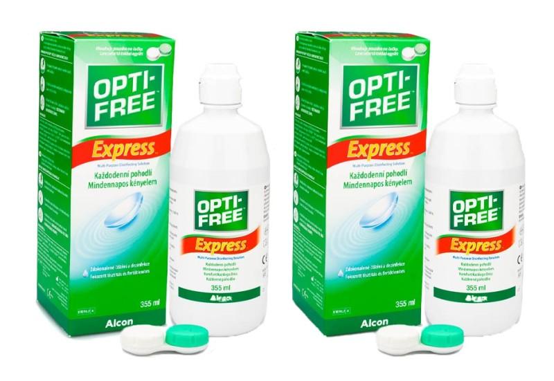 OPTI-FREE Express 2 x 355 ml cu suporturi de la Alcon